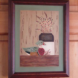 Hand-painted Still Life in Wood Frame